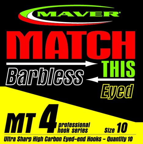 Maver Match This Hooks - MT 4 - Barbless