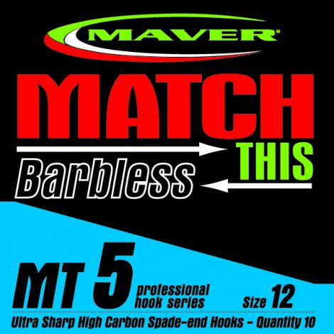 Maver Match This Hooks - MT 5 - Barbless