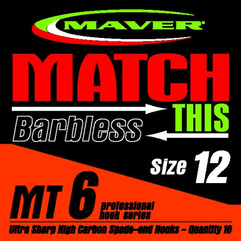 Maver Match This Hooks - MT 6 - Barbless
