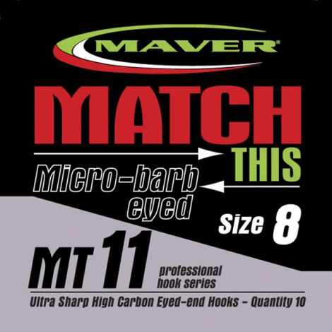 Maver Match This Hooks - MT 11 - Micro Barb Eyed