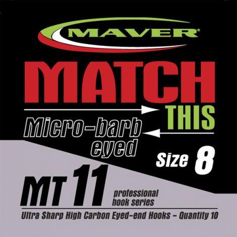Maver Match This Hooks - MT 11 - Micro Barb Eyed