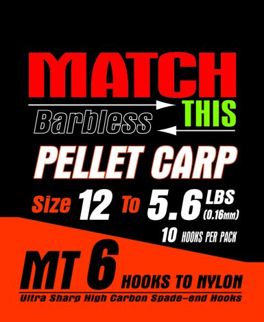 Maver Match This Hooks to Nylon - MT 6 - Pellet Carp