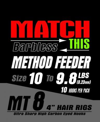 Maver Match This Hooks to Nylon Hair Rig - MT 8 - Method Feeder