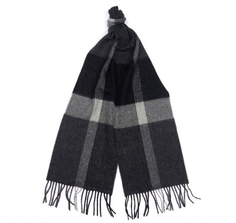 Barbour Oakwell Lambswool Scarf - Grey/Black