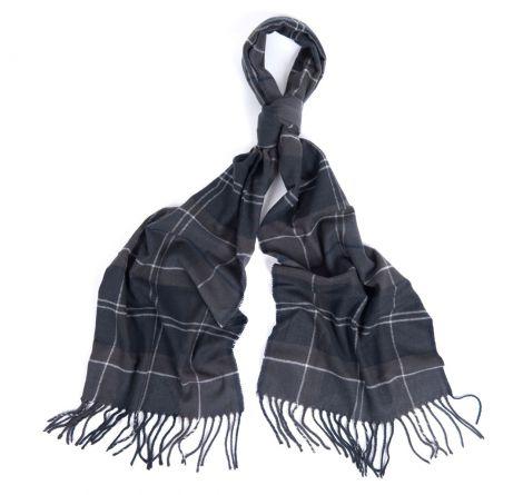 Barbour Galingale Tartan Scarf - Black/Grey