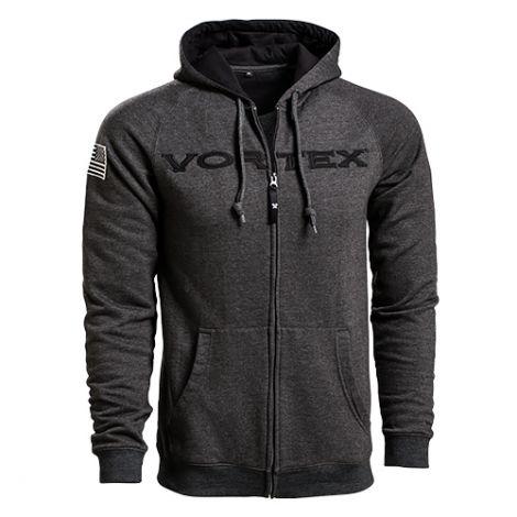 Vortex Grey Zip Hoodie