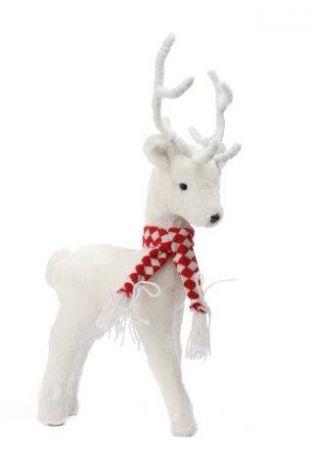 Jingles Christmas White Deer 30cm