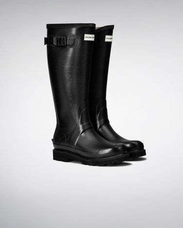 Hunter Women's Balmoral Poly-Lined Wellington Boots - Black