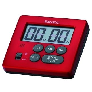 Seiko LCD Timer Red