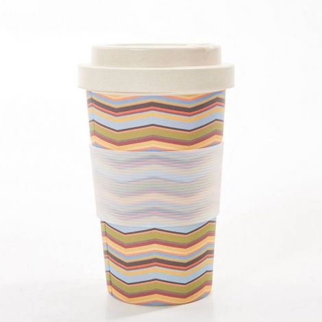 Eco Chic Neutral Zig Zag Coffee Mug