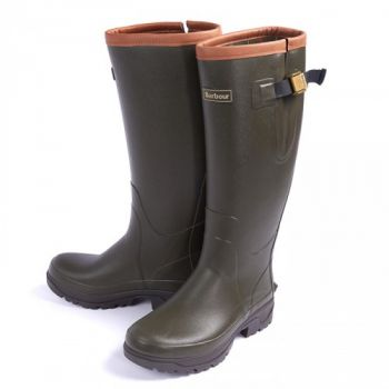 Barbour Tempest Wellingtons Mens Olive