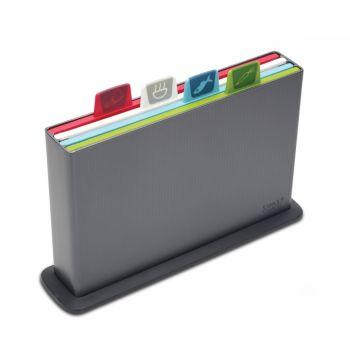 Joseph Joseph Index™ Large Colour-coded Chopping Board Set of 4 - Graphite